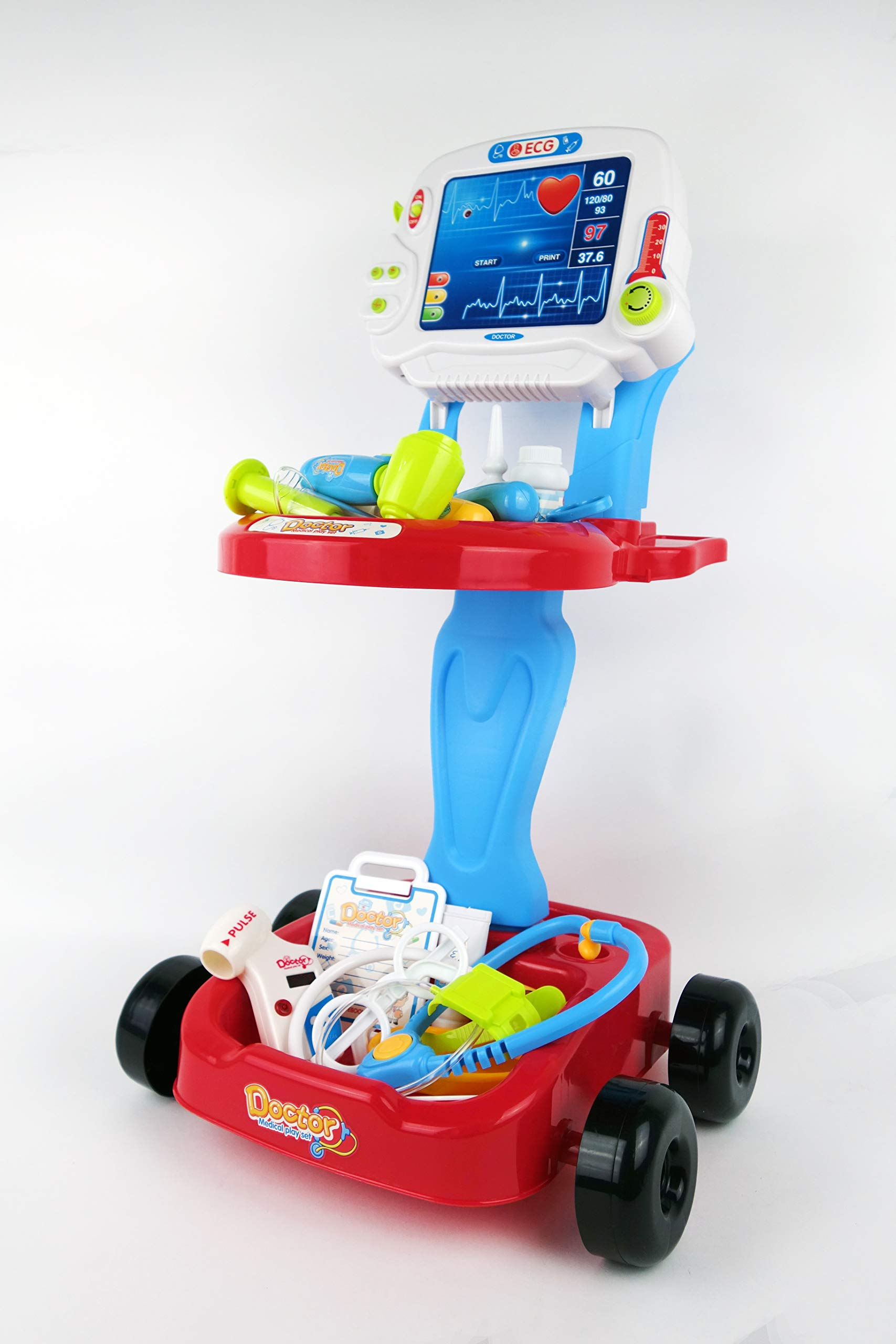 NBD Corp Kids Toy Portable Doctor Set, 17 Piece Set with Play Screen and Play Doctor Instruments by NBD Corp (Image #4)