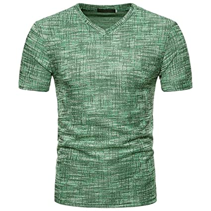 Amlaiworld Camiseta de hombre Baratas deporte Camiseta casual de manga corta de verano para