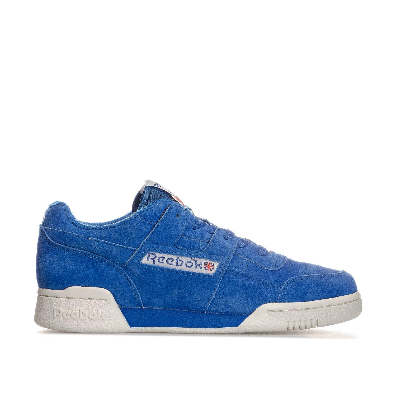Reebok Classics Herren Workout Plus Vintage Turnschuhe Schuhe -Blau