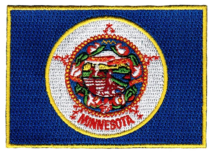 Minnesota State Flag Embroidered Patch Iron On Mn Emblem At Amazon
