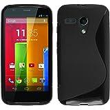 PhoneNatic Custodia Motorola Moto G Cover nero S-Style Moto G in silicone + pellicola protettiva
