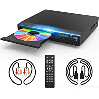 DVD Player for TV, DVD CD Player with HD 1080p Upscaling, HDMI & AV Output (HDMI & AV Cable Included), All-Region Free…