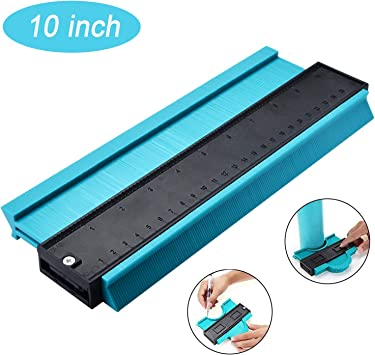 Plastic Woodworking Shape Contour Gauge Duplicator For Perfect Fit and Easy Cutting(10-Inch and 5-Inch) Plastic Contour Gauge Profile Contour Duplications Gauge