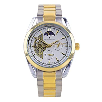 RALPH CHRISTIAN Mens Automatic Watch Zurich Two-Tone Wrist Watches Gold Stainless Steel Band Self
