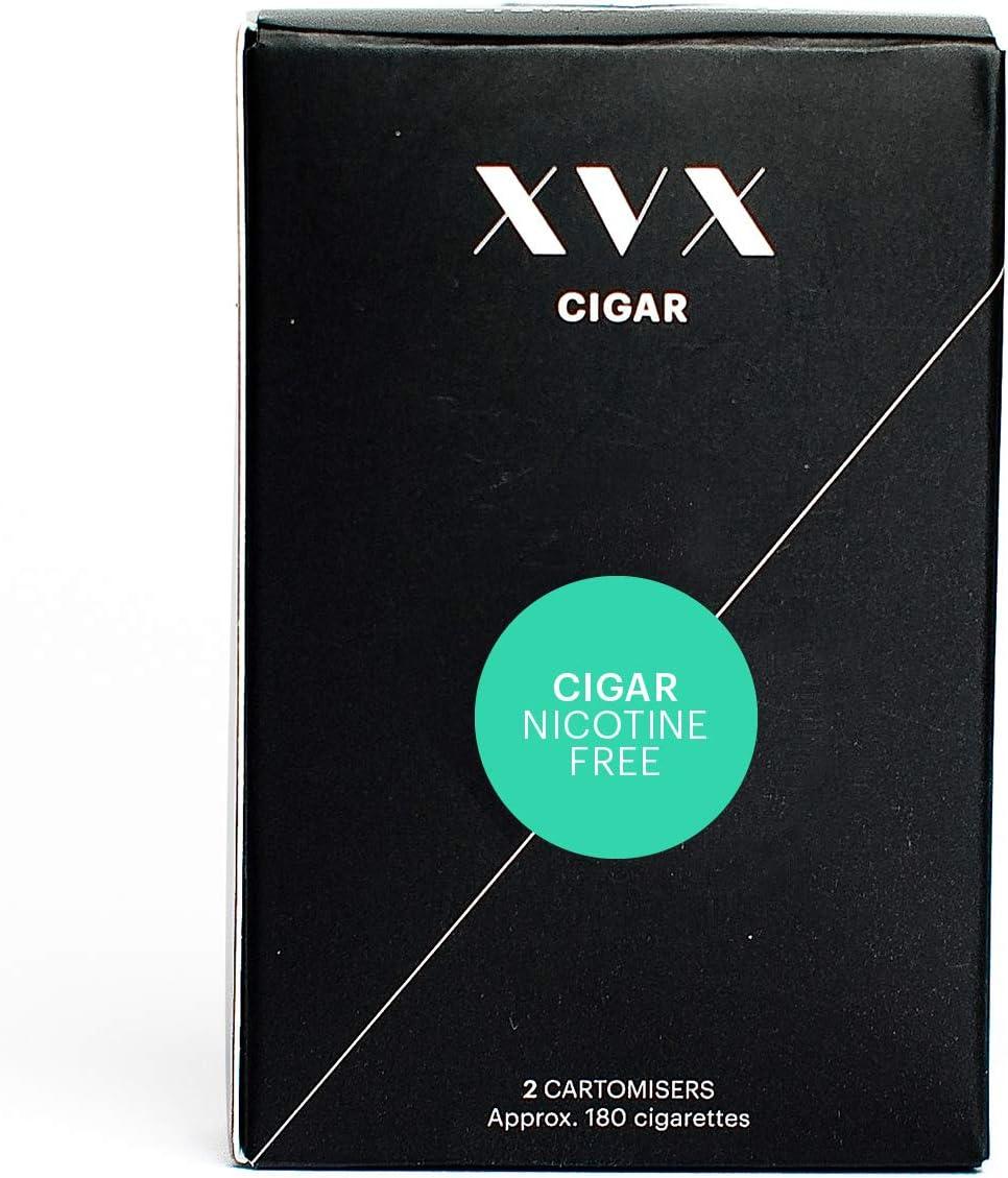 XVX CIGAR Refill Electronic Cigar Refill Cigar Flavour 1800 Puffs Per 2 Pack 900 Puffs Per Cartridge E Cigarette E Cigarettes Shisha Nicotine Free