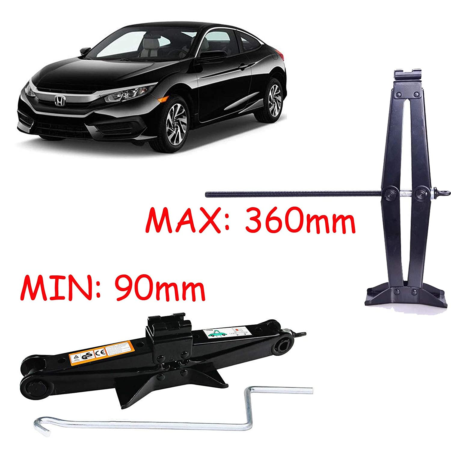 Set of 2 AutoBaBa Heavy Duty 3 Tonne Axle Stands for Car Caravan Van Vehicle Stand Lifting