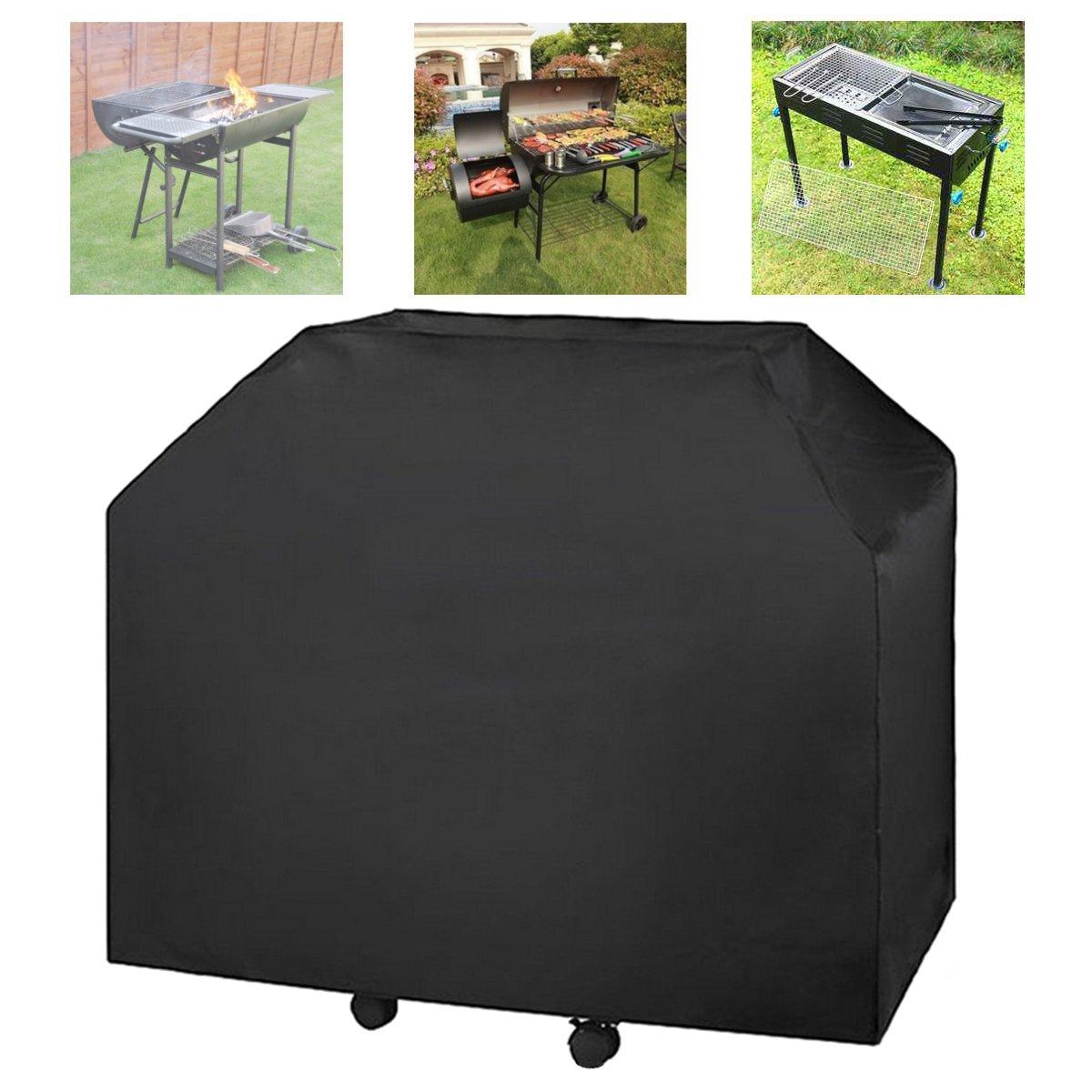 Faway Heavy Duty BBQ Grill a Gas Barbecue Copertura Impermeabile Rain Protector (183 x 66 x 130 cm)-Nero