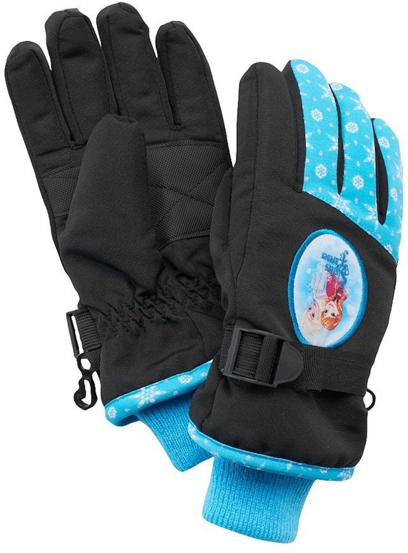 Disney's Frozen Anna & Elsa Ski Gloves ‑ Girls 4‑16 Black/Blue