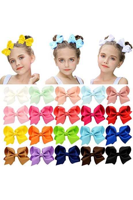 20pcs Grosgrain Ribbons Cheer Bow With Alligator Hair Clip Baby Girl BoutiqueHGU