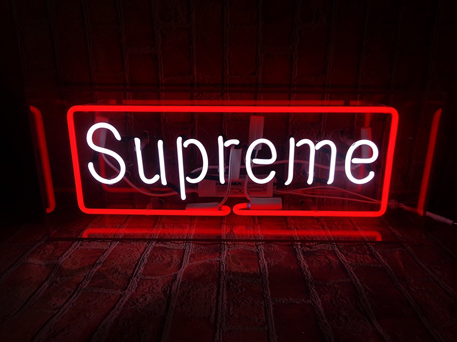 Desung Brand New 17'' S upreme (Various sizes) CUSTOM Design Decorated Acrylic Panel Handmade Man Cave Neon Sign Light UT92