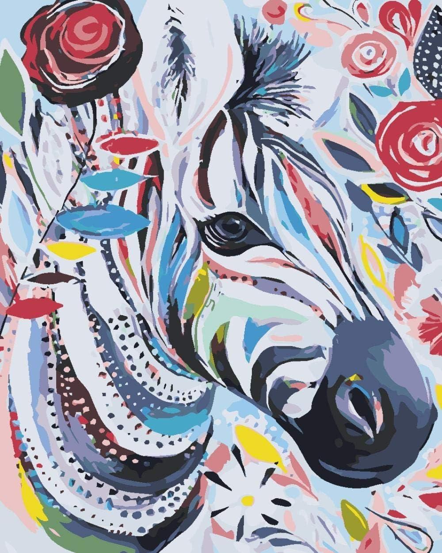 Pintar por Numeros Kits para Adultos Niños Caballo dibujado a mano DIY Pintura al óleo con Pinceles y Pinturas Decoraciones para el Hogar - 40x50cm Sin Marco