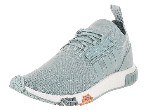 timeless design 966f8 d3778 Amazon.com   adidas NMD Racer Primeknit Women s Shoes Ash Grey Blue  Tint White cq2032   Shoes