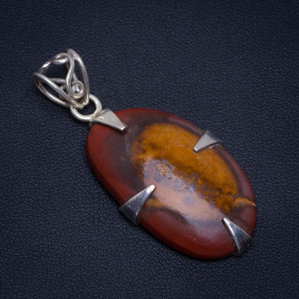 Natural Brown Agate 925 Sterling Silver Pendant 1.8 AM236