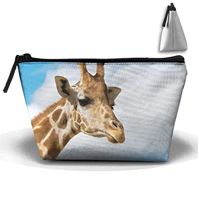 Funny Giraffe Multifunction Portable Pouch Trapezoidal Storage Toiletry Bag
