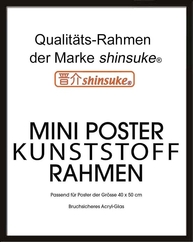 Profil: 15mm Kunststoff schwarz Wechselrahmen Shinsuke/® Miniposter 40x50cm Qualit/ätsrahmen Acrylscheibe beidseitig foliengesch/ützt