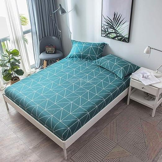 Elegante sábanas de ajuste geométrico triángulo amarillo ...
