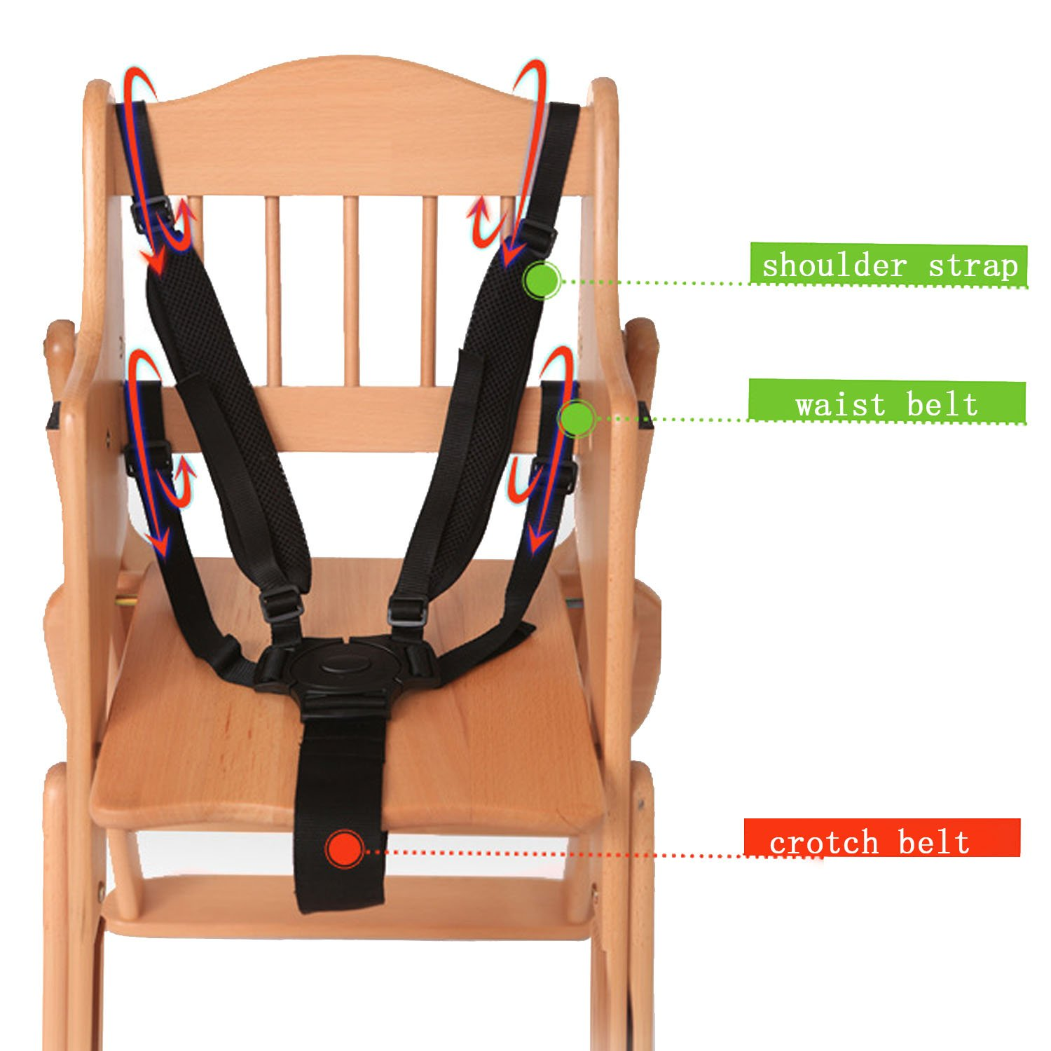 Portable 5 Point Baby Kids Child Chair Stroller Pram Seat Security Safe Belt Harness Strap Gosear
