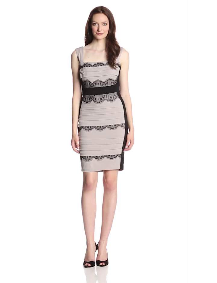 Jax banded lace dress