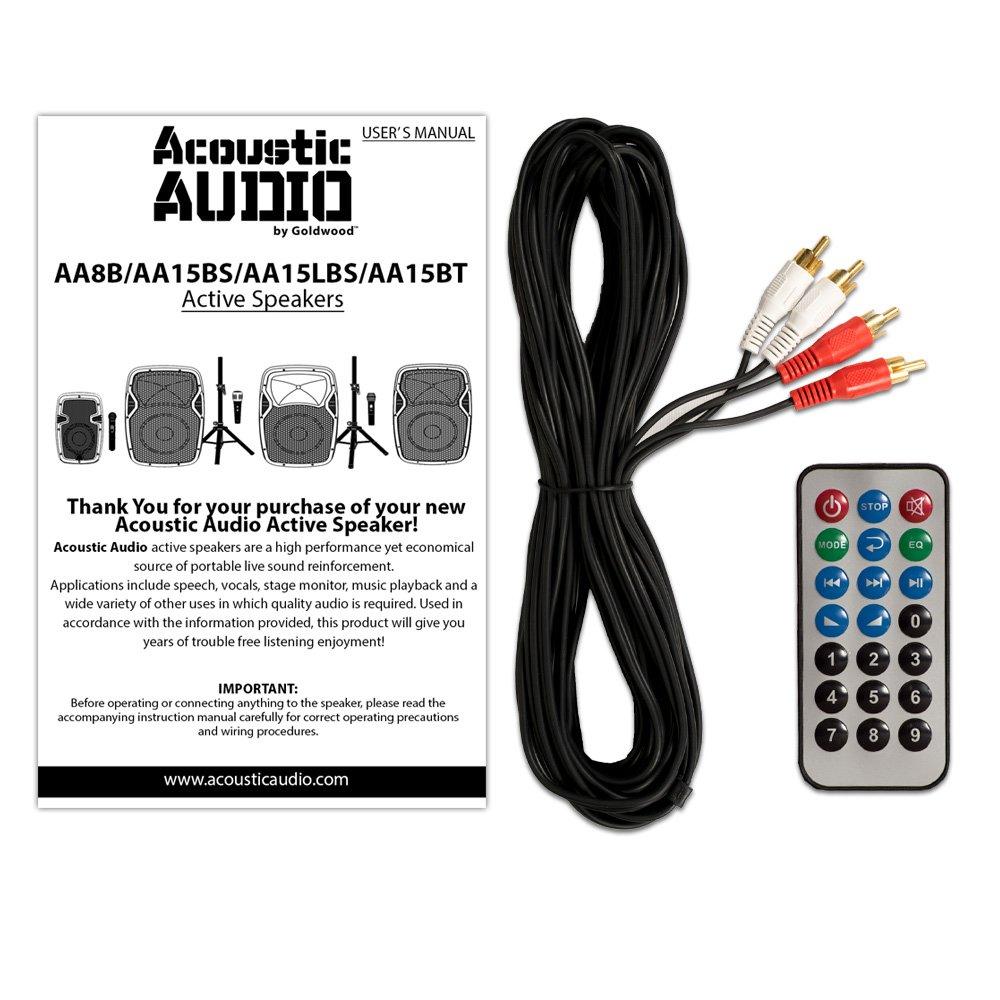"Amazon.com: Acoustic Audio AA15BT Powered 2000 Watts 15"" Bluetooth Speaker  Pair 2 Way USB MP3 Players: Home Audio & Theater"