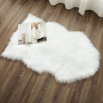Amazoncom Ojia Deluxe Soft Faux Sheepskin Chair Cover Seat Pad