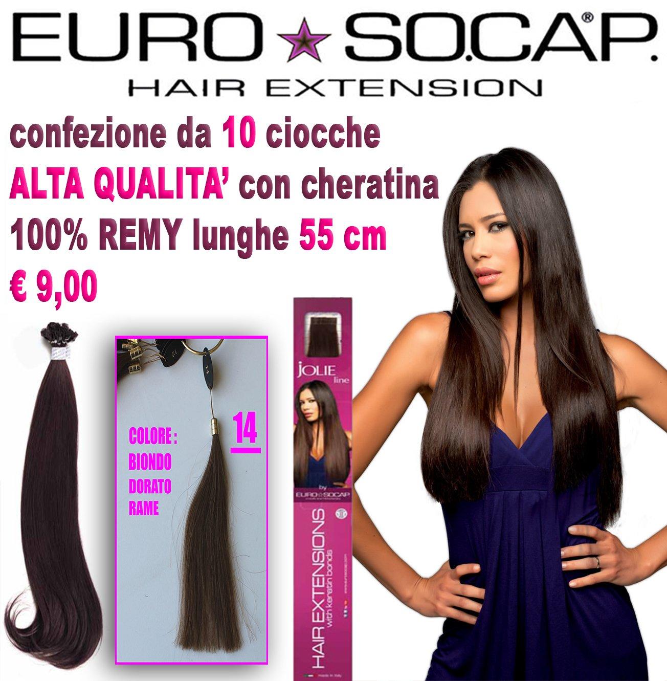 EURO SOCAP Hair Extension colore biondo naturale