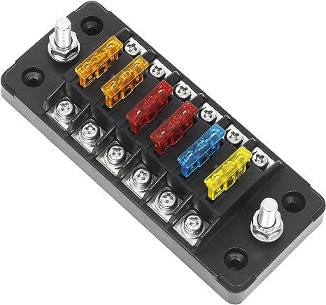 Wisamic 6 Fach Sicherungshalter Für Auto Boot Wohnmobil Solaranlage 12 32v Kfz Sicherungskasten Auto