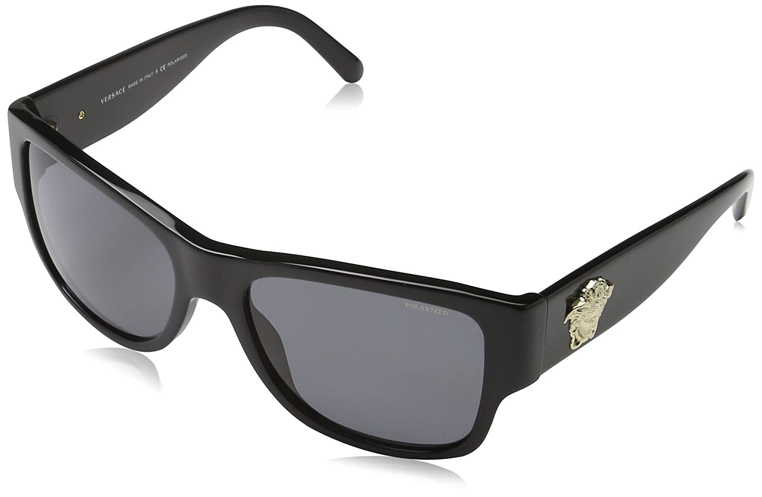 dc2e5e0fd8 Amazon.com  Versace Women s VE4275 Black Polarized Grey  Versace  Clothing