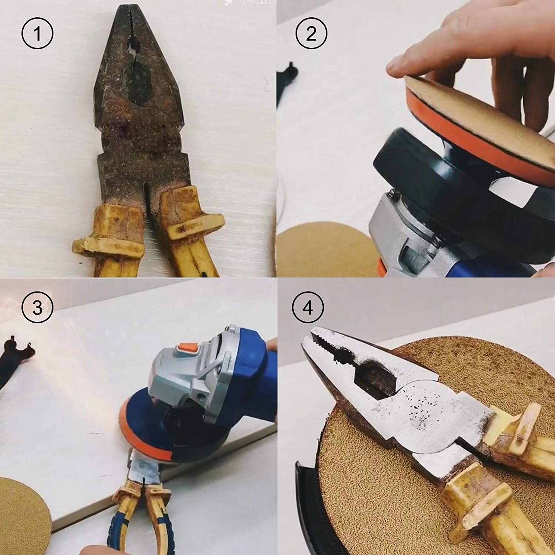 smileracing 6 Gold Sandpaper 50 Roll Sanding Disc PSA Sticky Back Grit 40-800 Sand Paper 40 Grit
