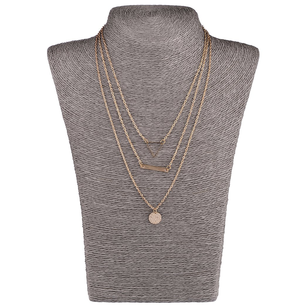 Mother's Day Gift- 5 PCS Long Lariat Y Chain Necklace Set Simple Bohemia Multilayer Pendant for Women by Angelus (Image #3)