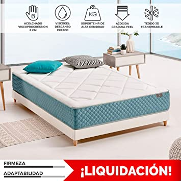 Komfortland Colchón viscoelástico Gel Tech con 6 cm de ViscoProgression Gel de 135x190 cmAltura 27 cm: Amazon.es: Hogar