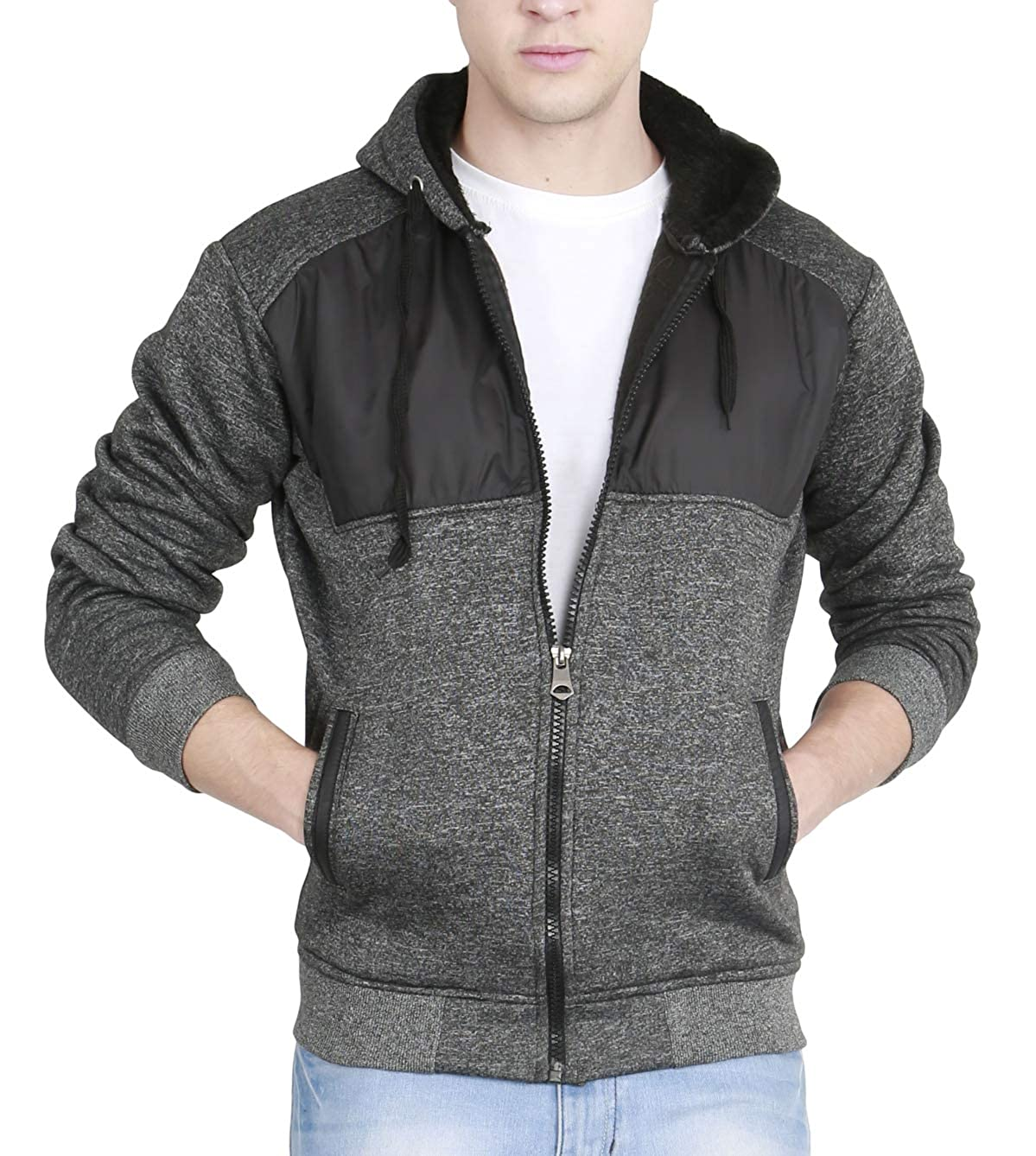 64133119e fanideaz Men's Cotton Quilted Hooded Sweatshirt with Zip: Amazon.in:  Clothing & Accessories