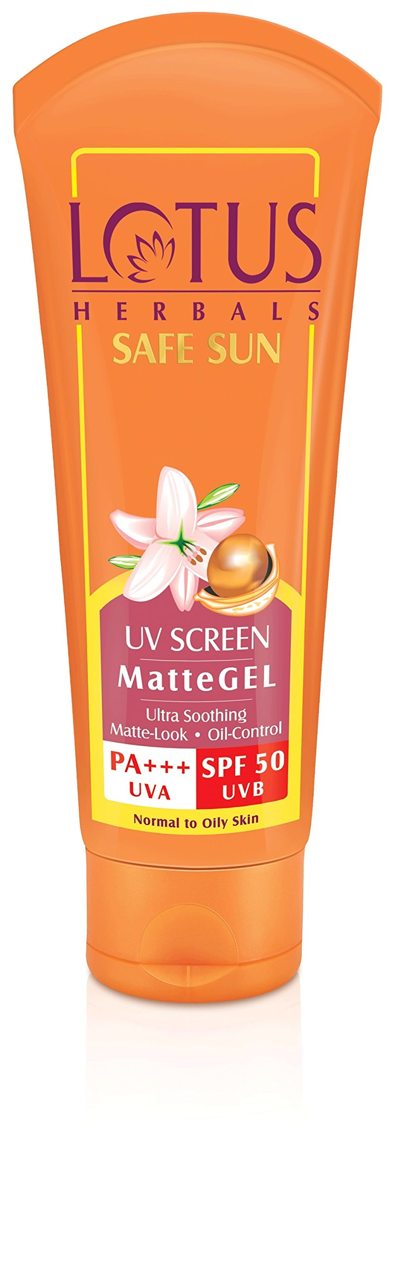 Lotus Herbals Safe Sun UV Screen Matte Gel, SPF 50, 100g product image