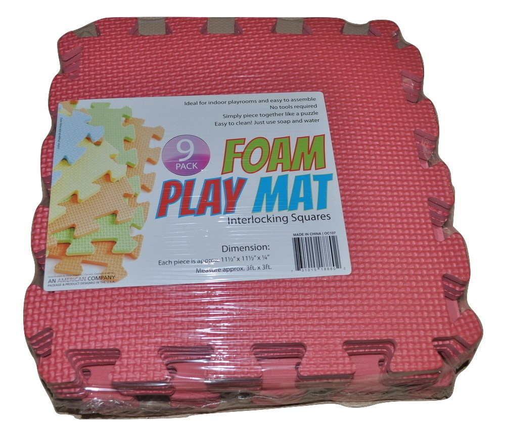 AHD 9-Tile Exercise Solid Foam Interlocking Playmat Kids Safety Play Floor