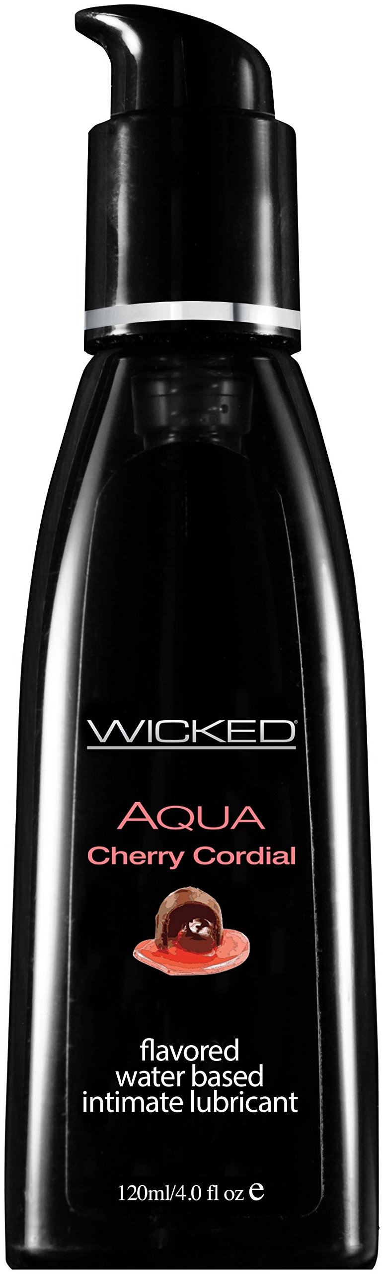 Wicked Lubes Sensual Care Aqua Lubricant, Cherry Cordial, 4 Fluid Ounce