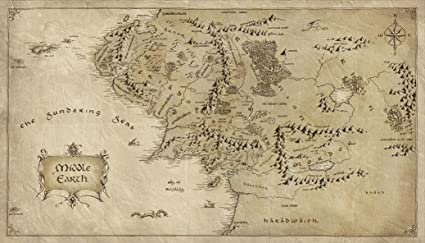 Amazon.com: Map Of Middle Earth The Lord Of The Rings Nice Silk