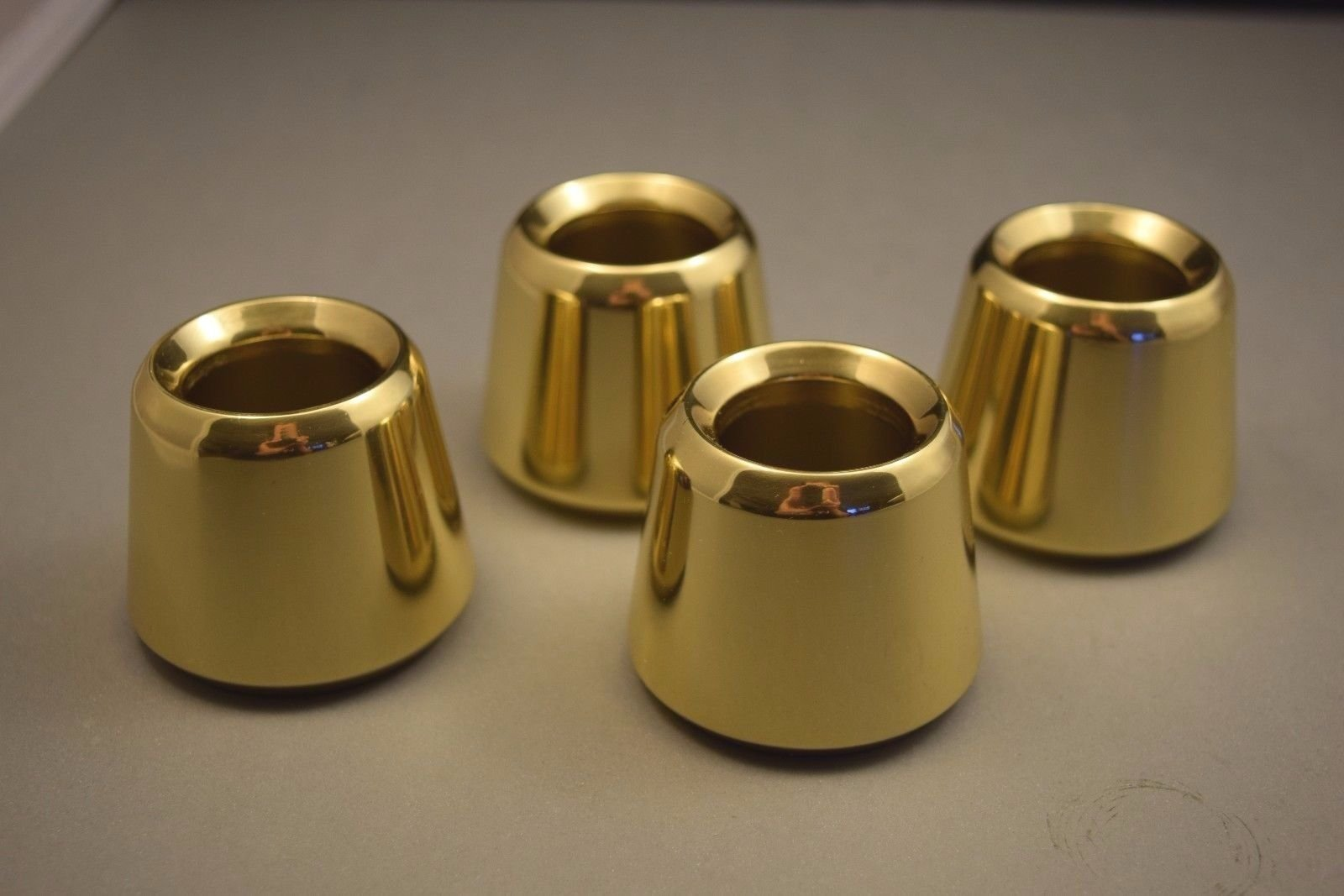 Set of 4 Solid Brass 1 1/2'' Church Candle Followers