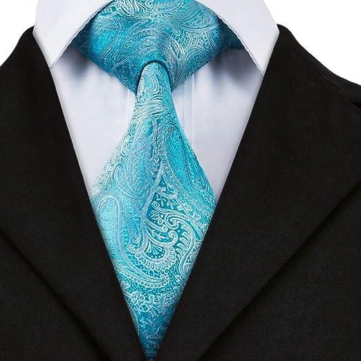AK Hombres S Tie Tie Marca Corbatas de seda para hombres Paisley ...