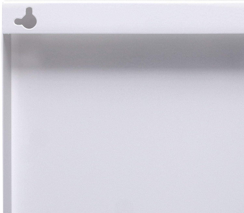 banjado Magnettafel 75x30cm Memoboard Metall Pinnwand Motiv Rosa Arabesque