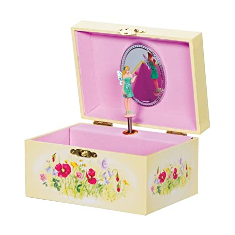 478398590a2d Las niñas tradicional Joyero Musical de madera mariposa caja de mantener  diseño de hada con rotación