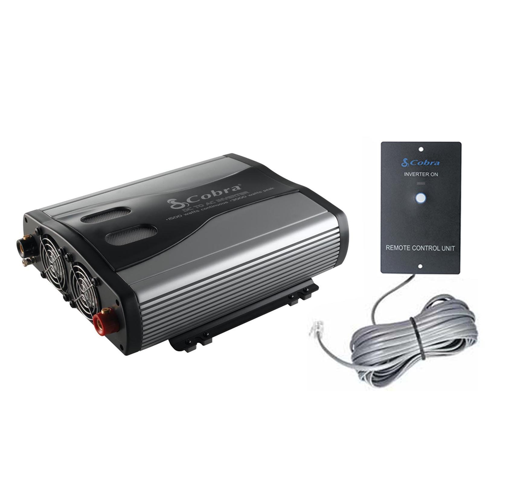 Cobra CPI1575 1500 Watt 3 Outlets DC to AC Car Power Inverter w/ Remote Control