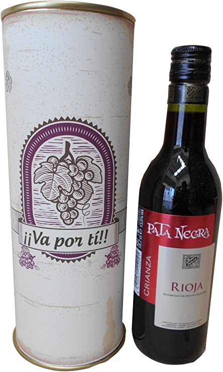 Vino tinto Crianza Pata Negra Rioja Alavesa en lata personalizada ...