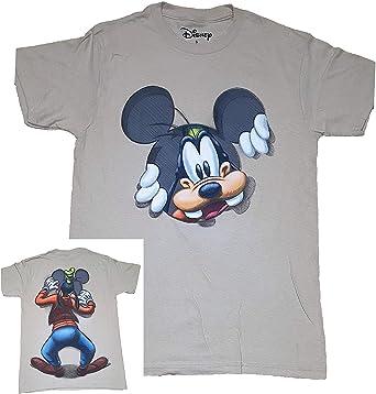 Disney Goofy Peeking adultos Fashion parte superior T Camisa – caqui: Amazon.es: Ropa y accesorios