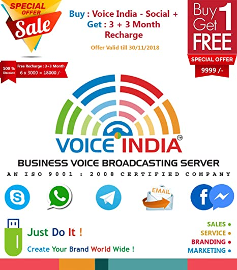 VOICE INDIA ® - SOCIAL+ DONGLE : WHATSAPP, TELEGRAM,SKYPE,EMAIL