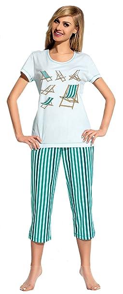 L&L Pijama para Mujer Mia (Turquesa, ...