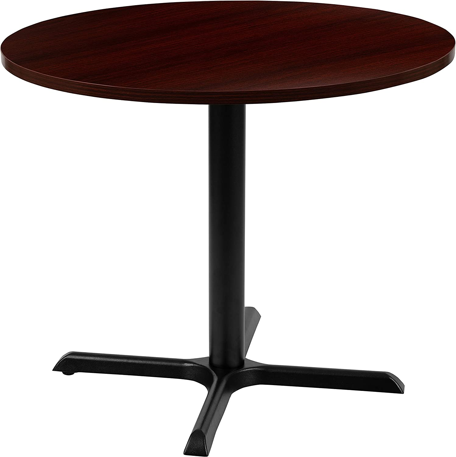 "Flash Furniture 36"" Round Multi-Purpose Conference Table in Mahogany"