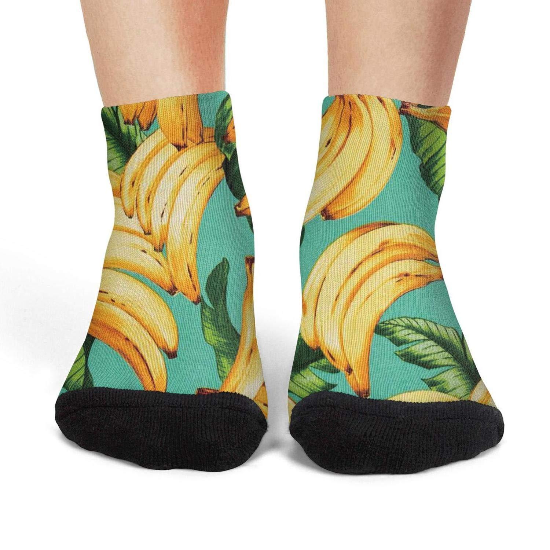 Amazon.com: Calcetines para mujer, diseño retro de plátanos ...