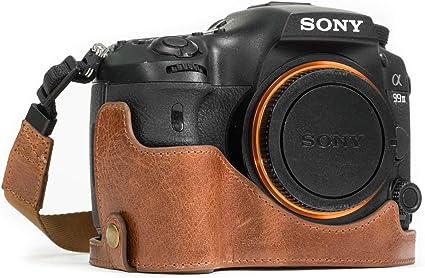 Megagear Ever Ready Leder Kamera Halbtasche Mit Trageriemen Kompatibel Mit Sony Alpha A99 Ii