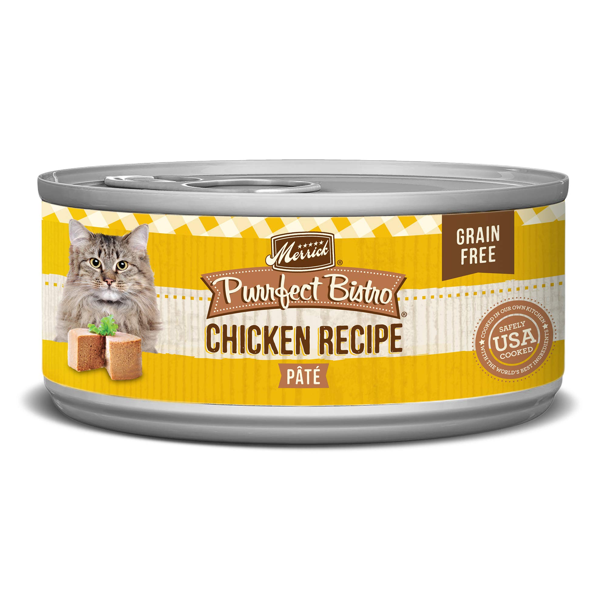 Merrick Purrfect Bistro Grain Free, 5.5 oz, Chicken Pate - Pack of 24  by Merrick