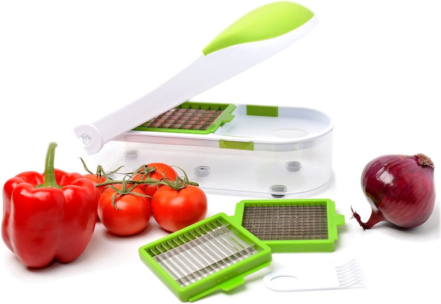 Family Home Professional Grade Onion, Vegetable, Fruit and Cheese Chopper, Dicer & Slicer