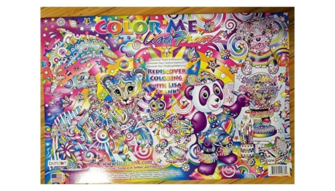 Color Me Lisa Frank 12 Posters Adult Coloring Book Bendon Drawing Pads Toys  & Games